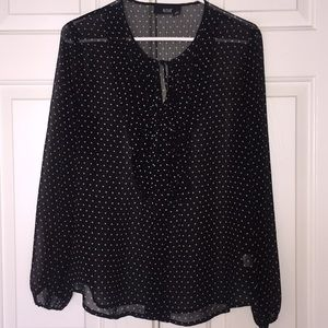 Sheer Blouse with Stars